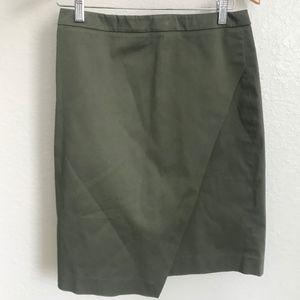 Khaki Green Banana Republic Knee Length Skirt